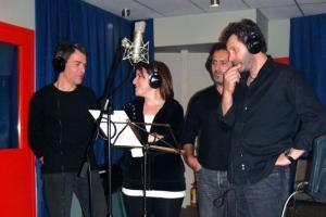 Στο Studio «Aiolia» με τη Στέλλα Κονιτοπούλου και το Στέλιο Μπικάκη (Photo: Βασίλης Οικονόμου)